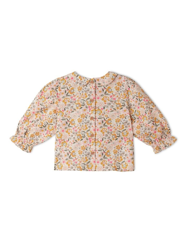 Clara Organic Woven Blouse With Peter Pan Collar image 4