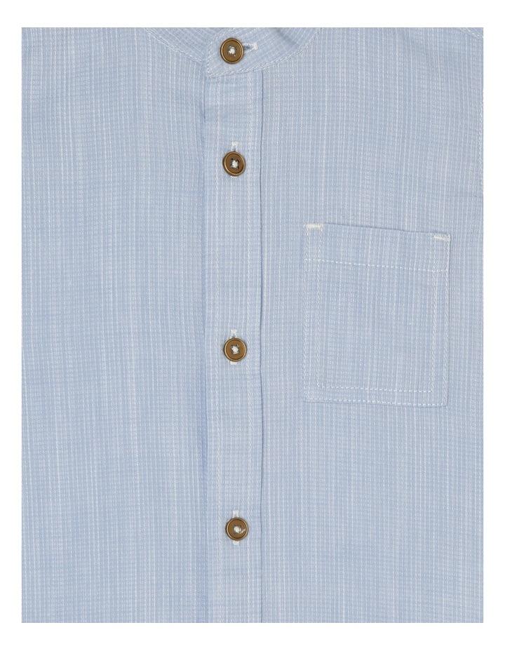 Ethan Grandpa Collar Short Sleeve Shirt-Pale Blue image 3