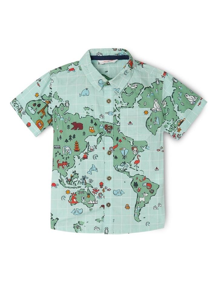 World Map Button Down Shirt.Jack Milly Stevie Woven Button Through Shirt World Map Myer