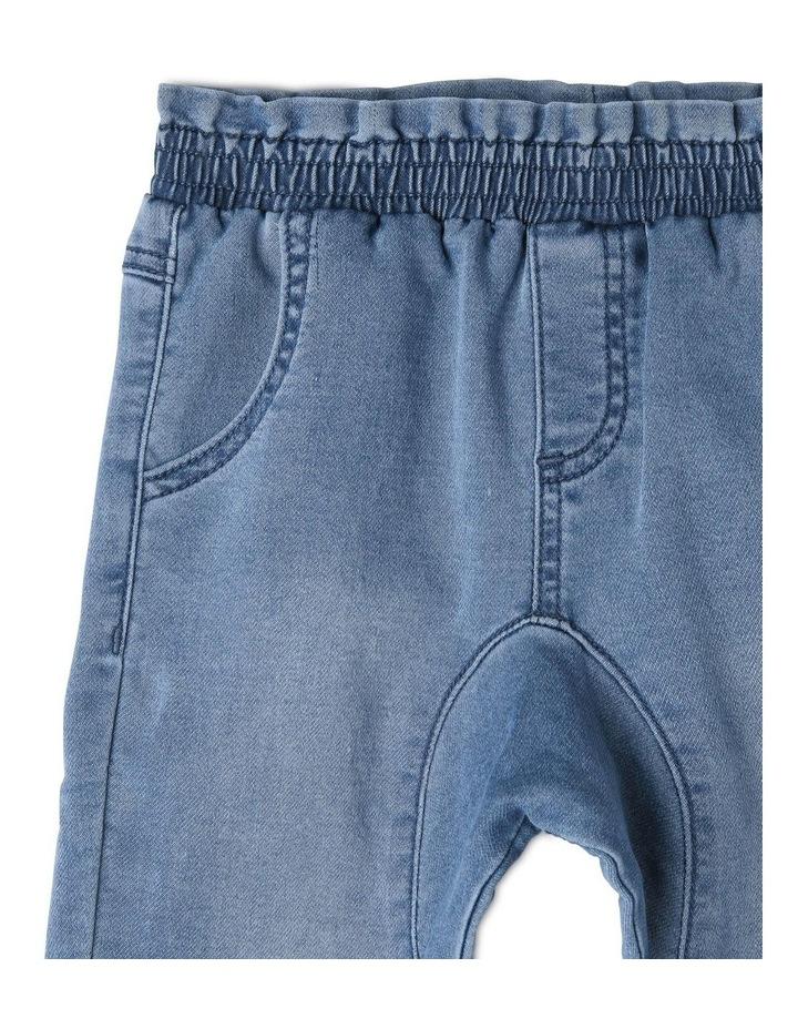 Maggie Paperbag Waist Knit Denim Jean image 3