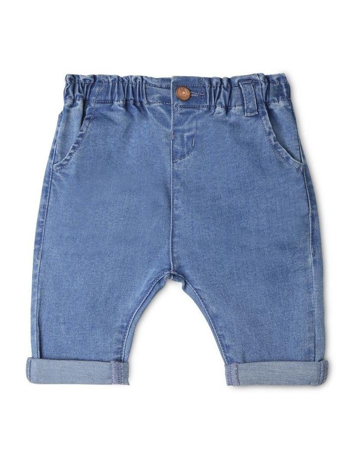 Luna Paperbag Waist Knit Denim Jean image 1