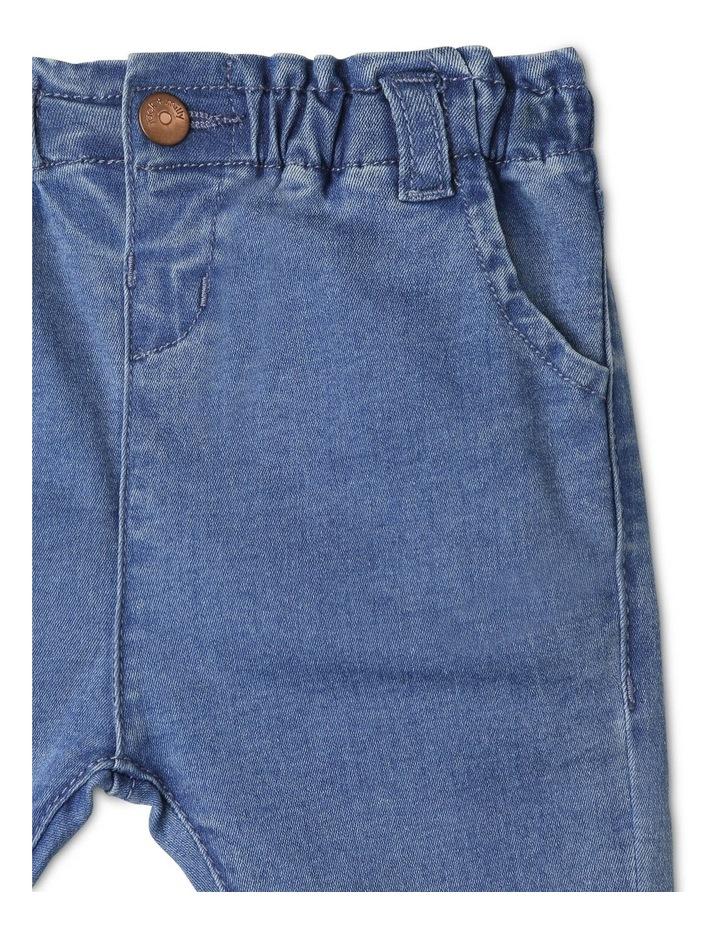 Luna Paperbag Waist Knit Denim Jean image 3