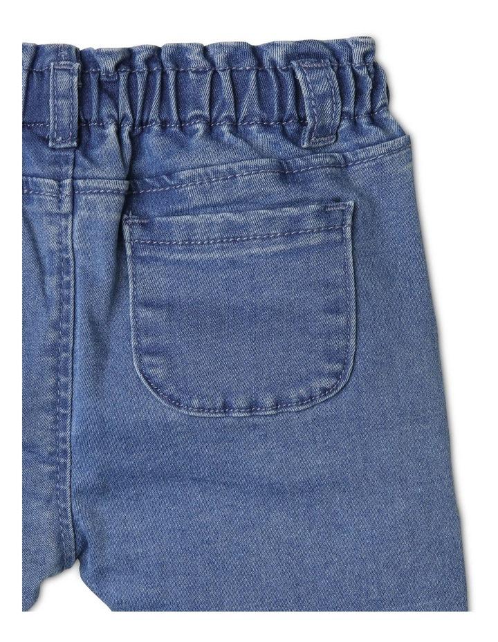 Luna Paperbag Waist Knit Denim Jean image 4