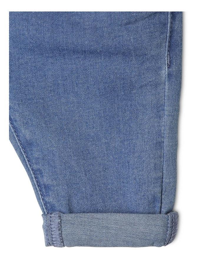 Luna Paperbag Waist Knit Denim Jean image 5
