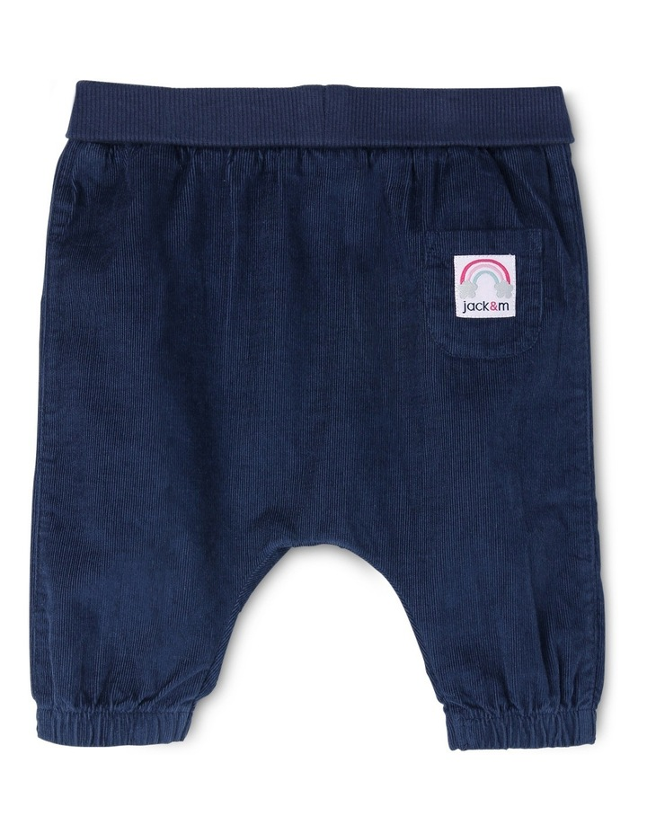 Kat Woven Babycord Pant With Rolled Rib Waist image 1