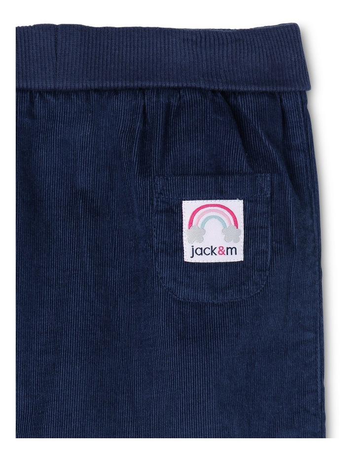 Kat Woven Babycord Pant With Rolled Rib Waist image 2
