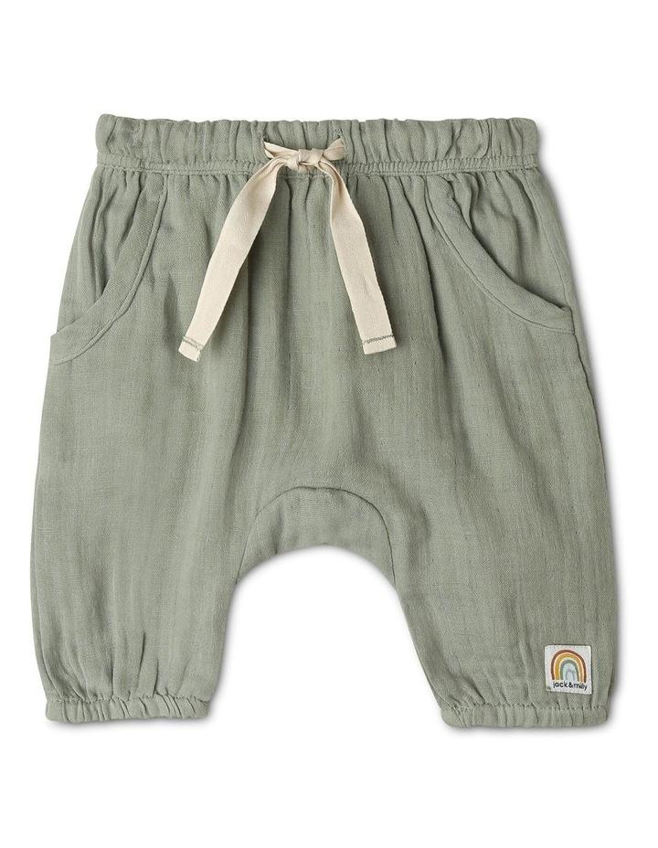 Organic Muslin Harem Pants image 1