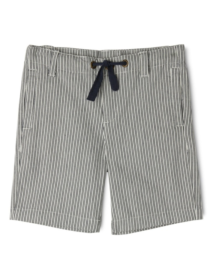 Sam Striped Shorts With Herringbone Ties-Navy/Coconut image 1