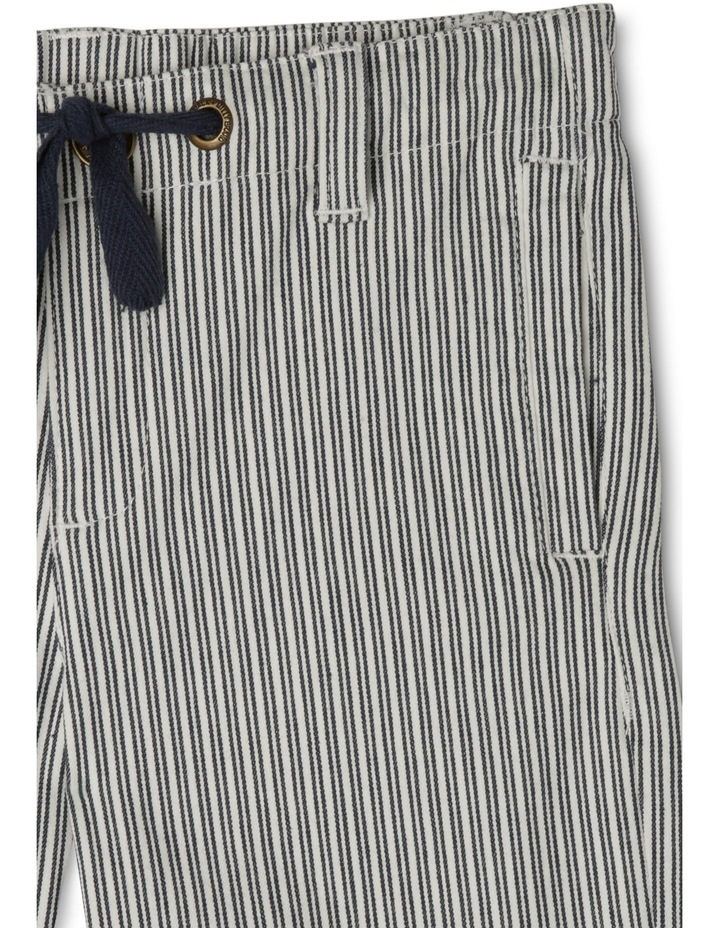 Sam Striped Shorts With Herringbone Ties-Navy/Coconut image 2