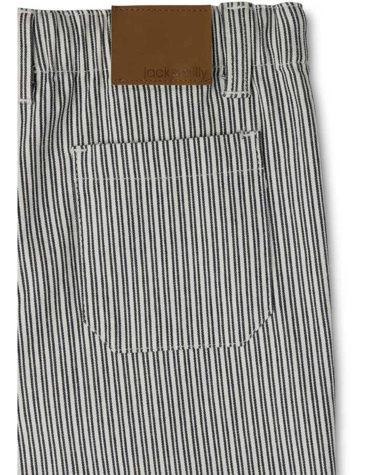 Sam Striped Shorts With Herringbone Ties-Navy/Coconut image 3