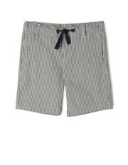 Jack & Milly - Sam Striped Shorts With Herringbone Ties-Navy/Coconut