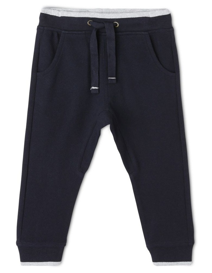 Felix Pique Track Pants with Contrast Tipping image 1