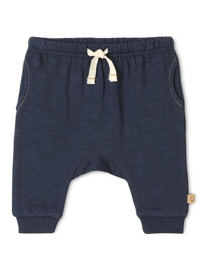 Archie Slub Fleece Track-Pant with Drop Crotch image 1