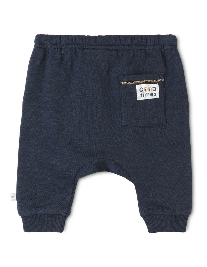 Archie Slub Fleece Track-Pant with Drop Crotch image 2