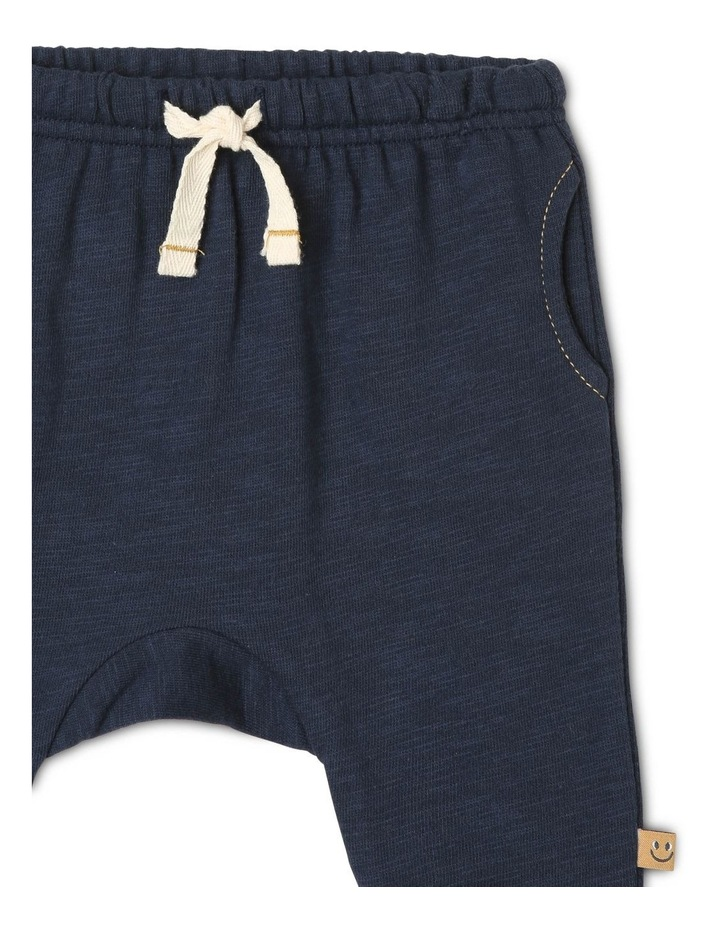 Archie Slub Fleece Track-Pant with Drop Crotch image 3