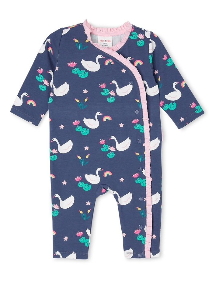 Lulu Frill Front Assymetrical Knit Coverall image 1