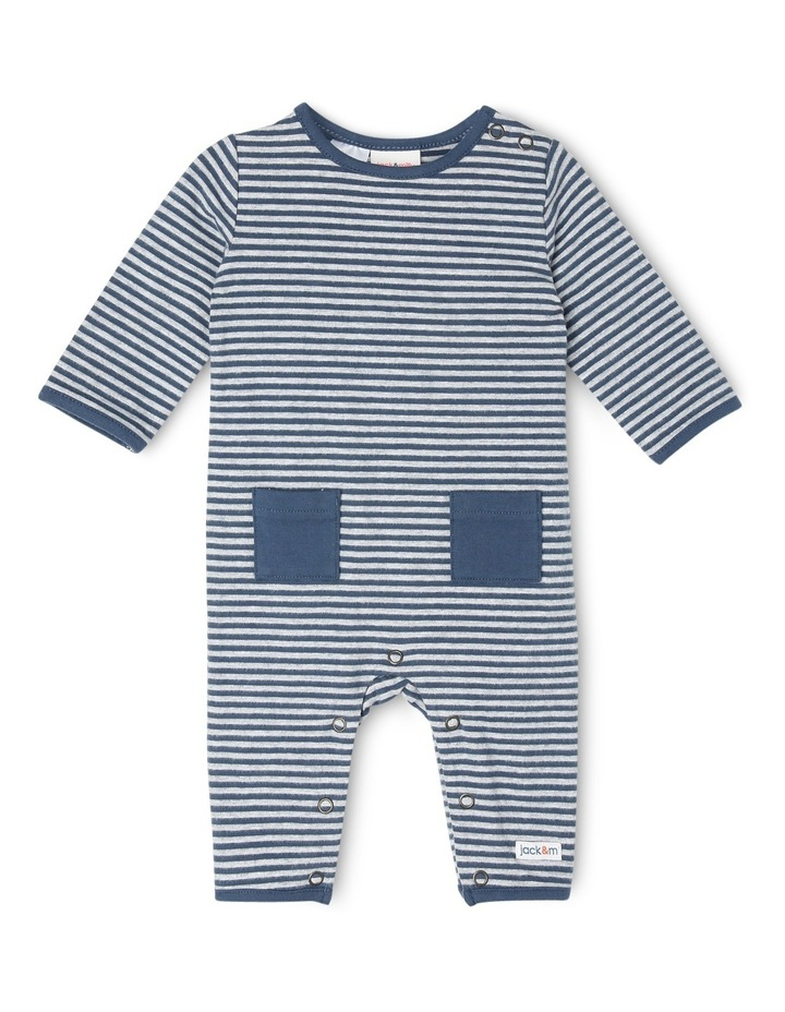 Jeremy Brushed Stripe Coverall With Pockets image 1