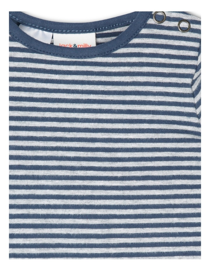 Jeremy Brushed Stripe Coverall With Pockets image 2