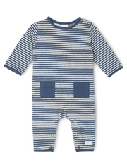 Jack & Milly - Jeremy Brushed Stripe Coverall With Pockets