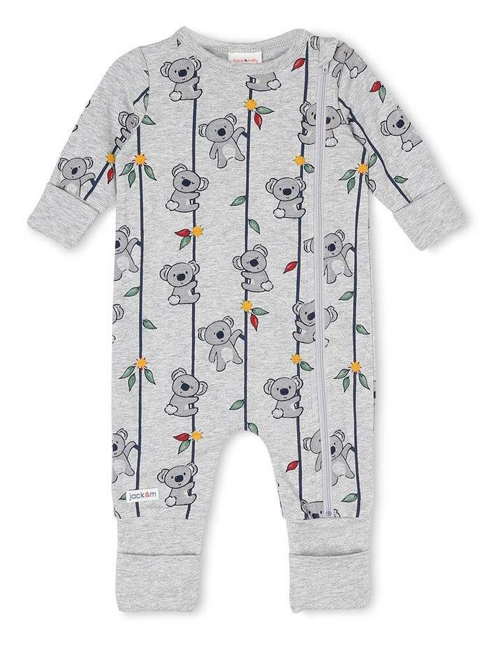 Harry Zip Thru Knit Coverall With Koala Print image 1