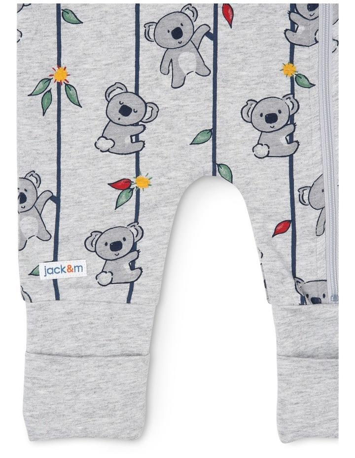 Harry Zip Thru Knit Coverall With Koala Print image 2
