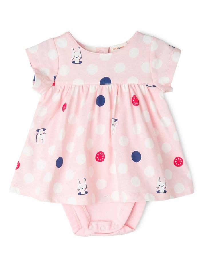 Emily Angel  Knit Romper - Pink Bunny Spot image 1