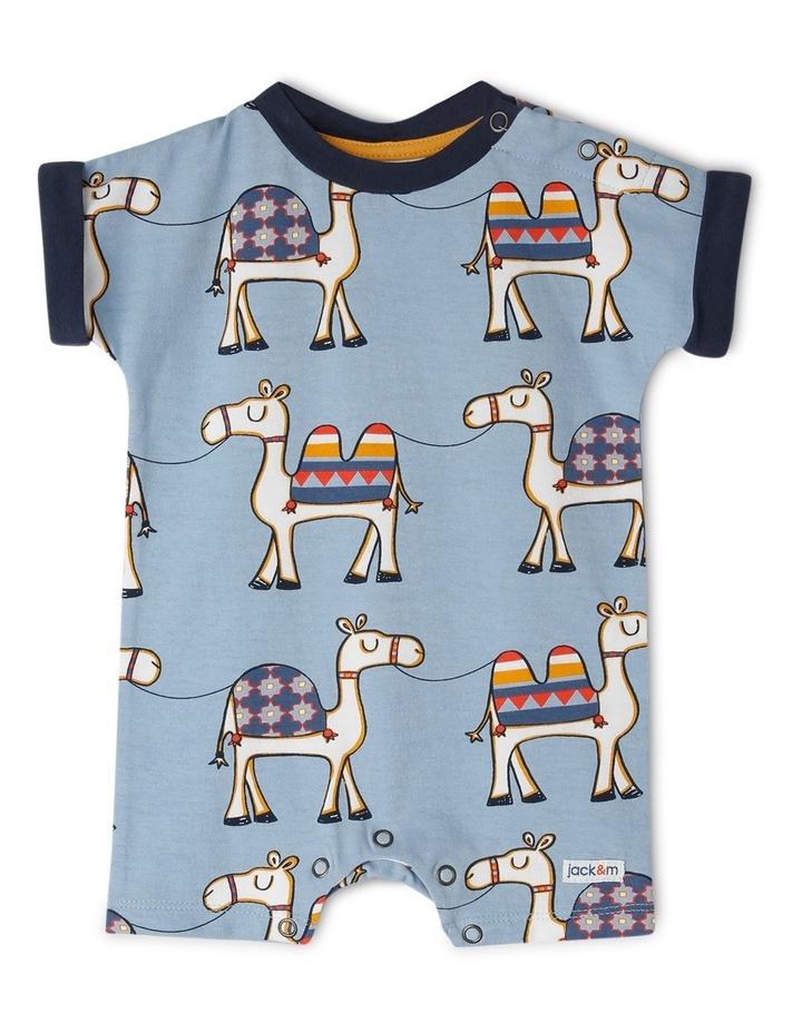 Blue Camel Print Newborn Boys image 1