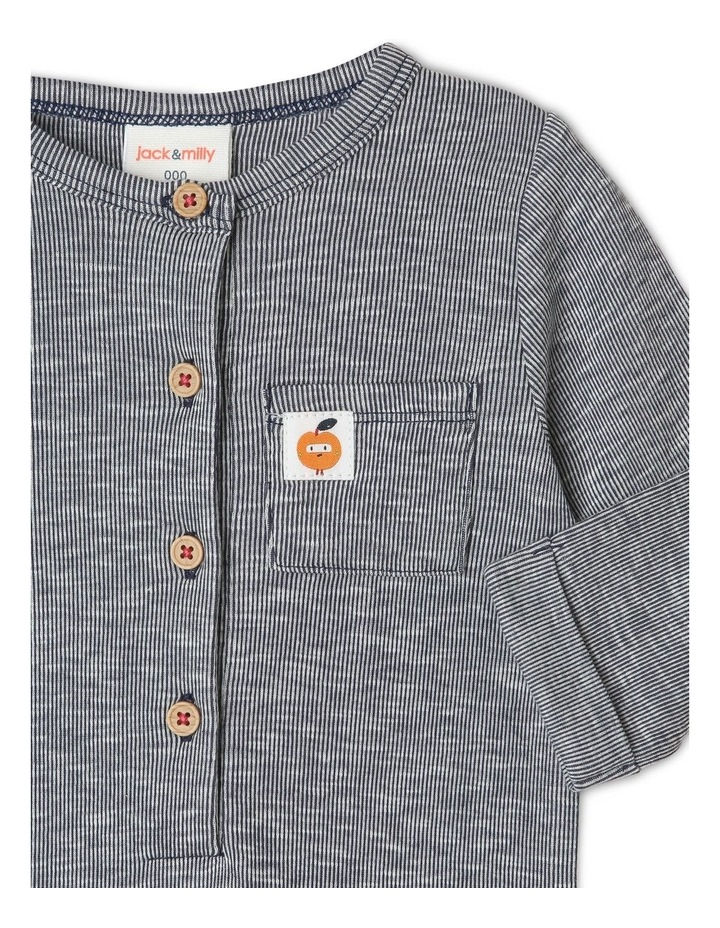 Rufus Long-Sleeve Striped Coverall image 2