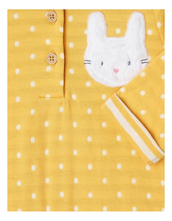 Bella Double-Knit Coverall with Fur Bunny Appliqu image 3