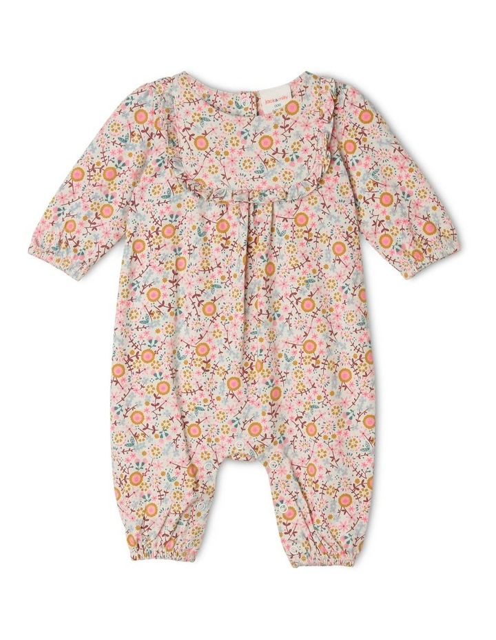 Emily Knit Coverall with Bib Frill image 1