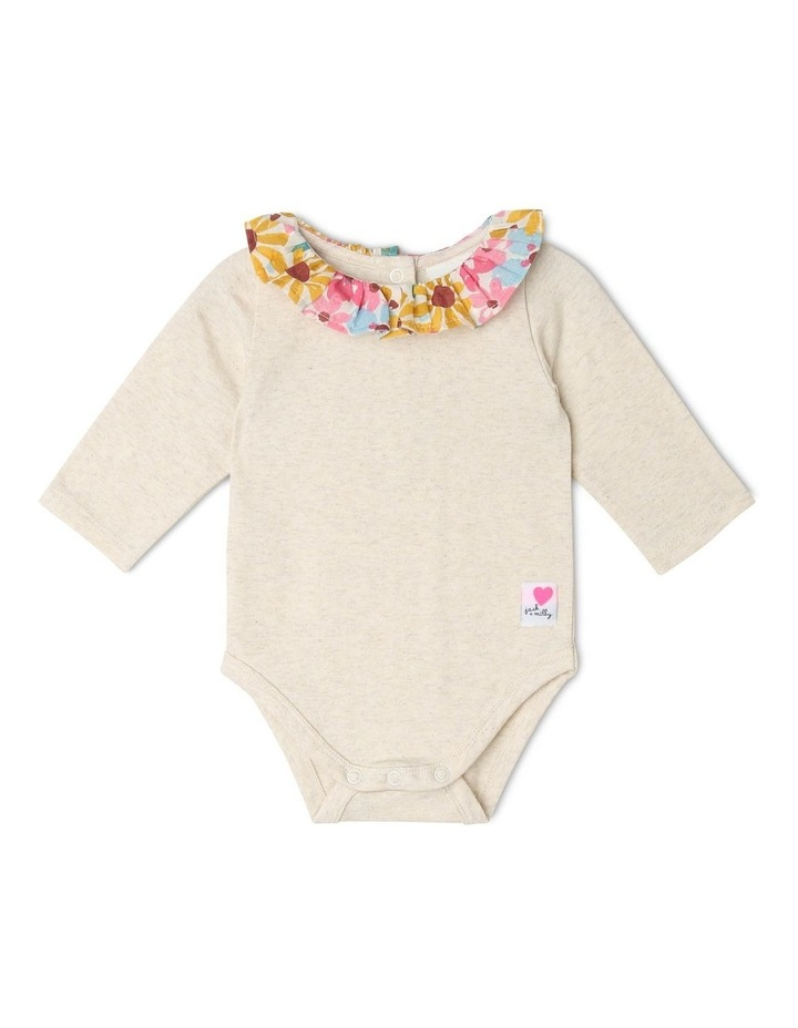 Sophie Long-Sleeve Bodysuit with Floral Neck Frill image 1