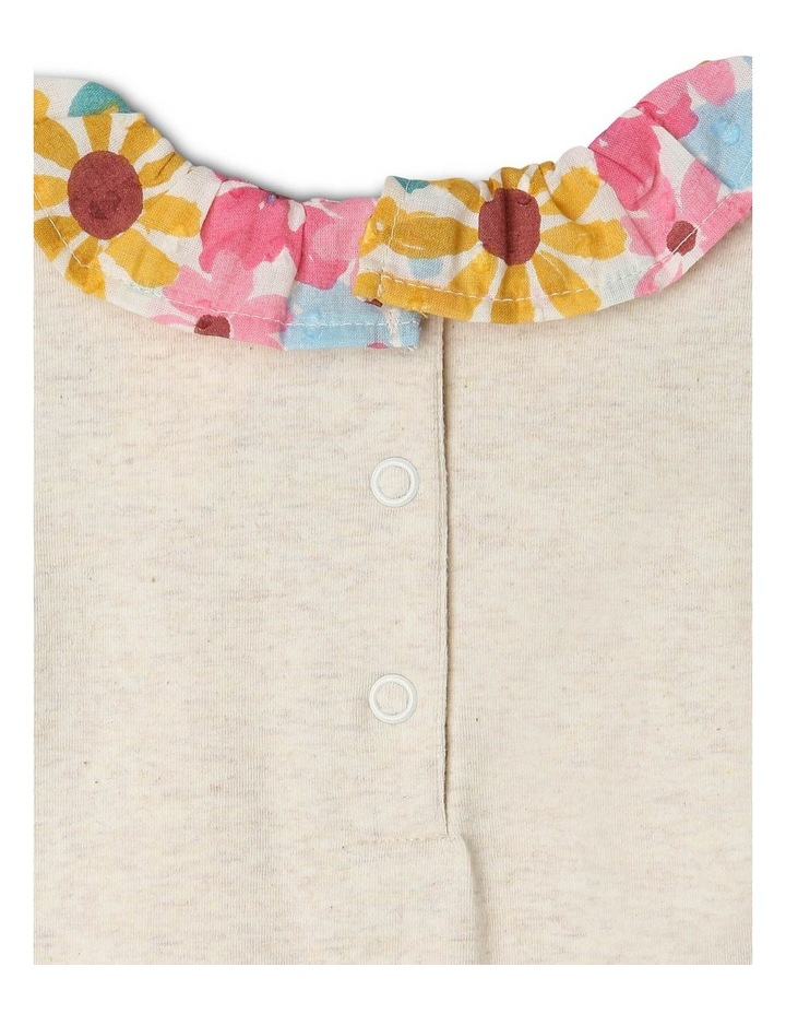 Sophie Long-Sleeve Bodysuit with Floral Neck Frill image 4