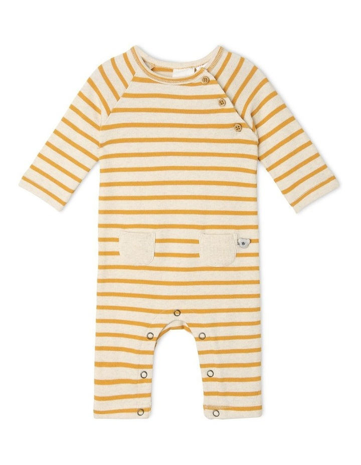 Quinn Organic Brushed Cotton Stripe Coverall image 1