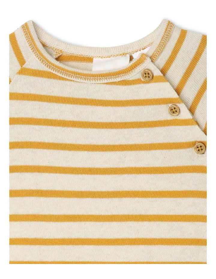 Quinn Organic Brushed Cotton Stripe Coverall image 2