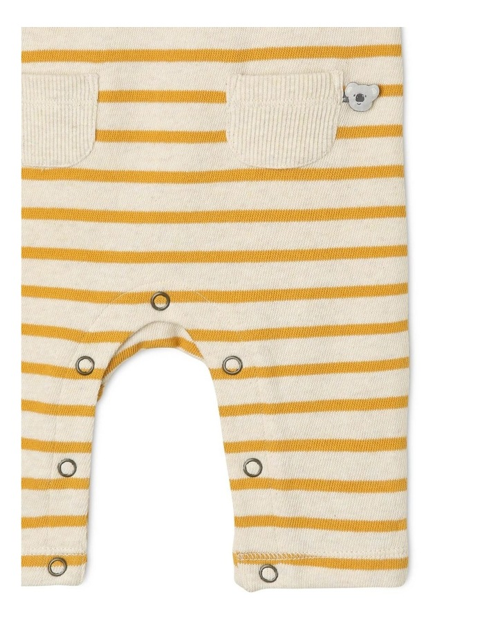 Quinn Organic Brushed Cotton Stripe Coverall image 3