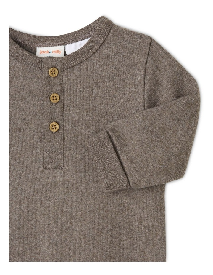 Eden Organic Brushed Rib Coverall image 2