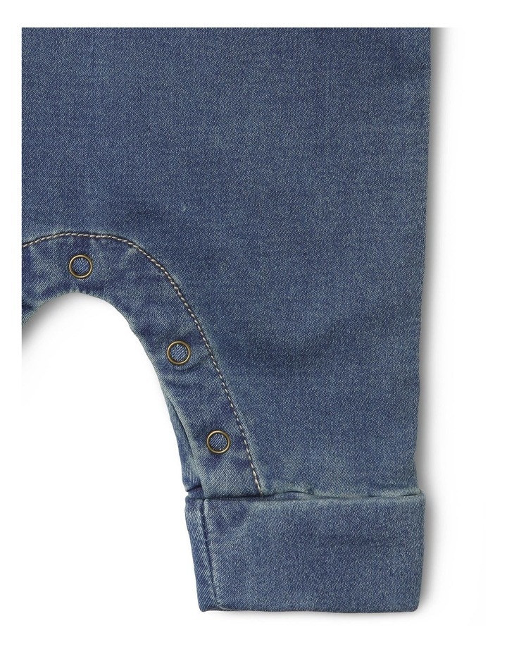 Mack Knit Denim Boiler-Suit with Front Button Opening image 4