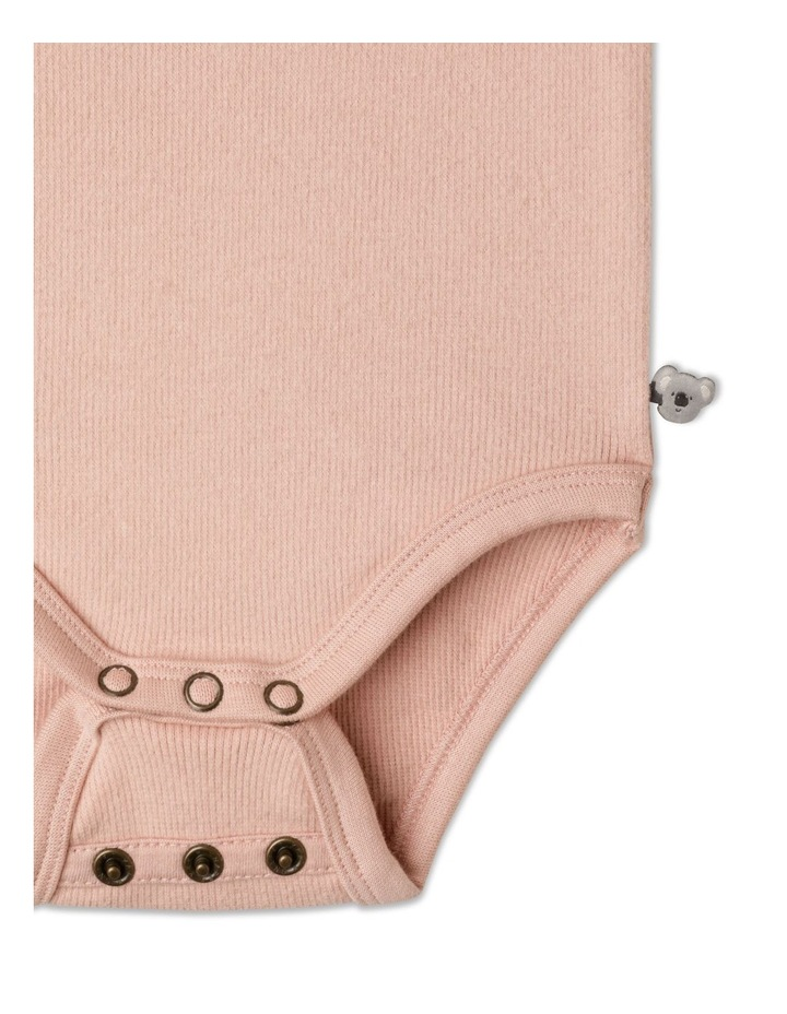 Naturals Organic Rib Bodysuit Dusty Pink image 3