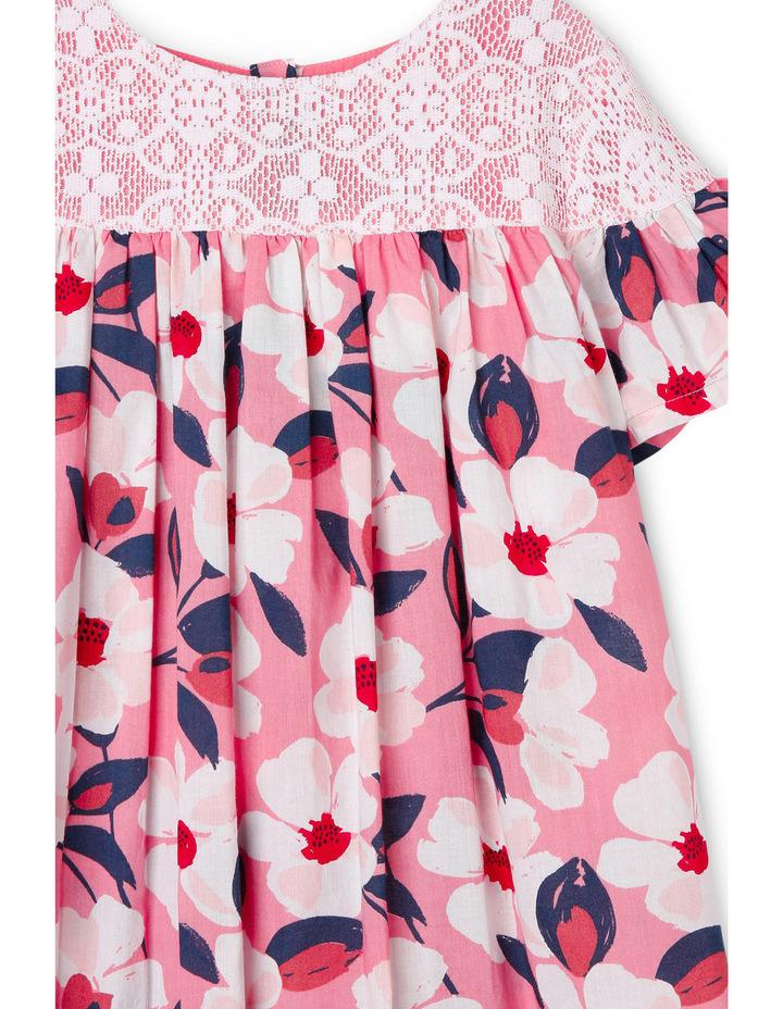 Mia Fluted Sleeve Lace Yoke Dress image 2