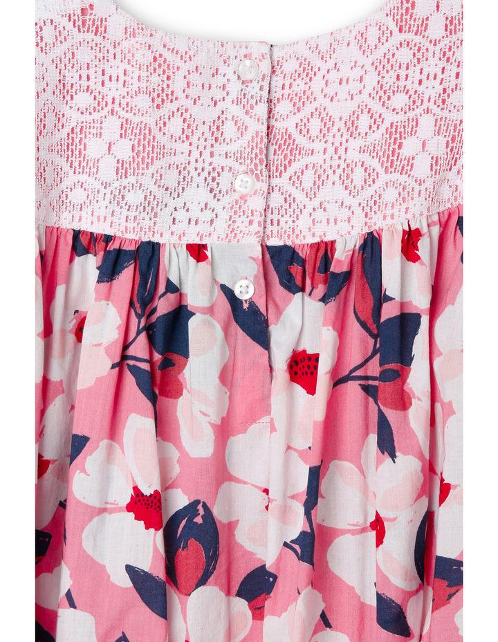Mia Fluted Sleeve Lace Yoke Dress image 3