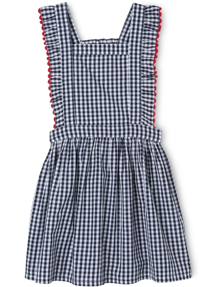 Ava Gingham Dress With Ric Rack Trim image 1