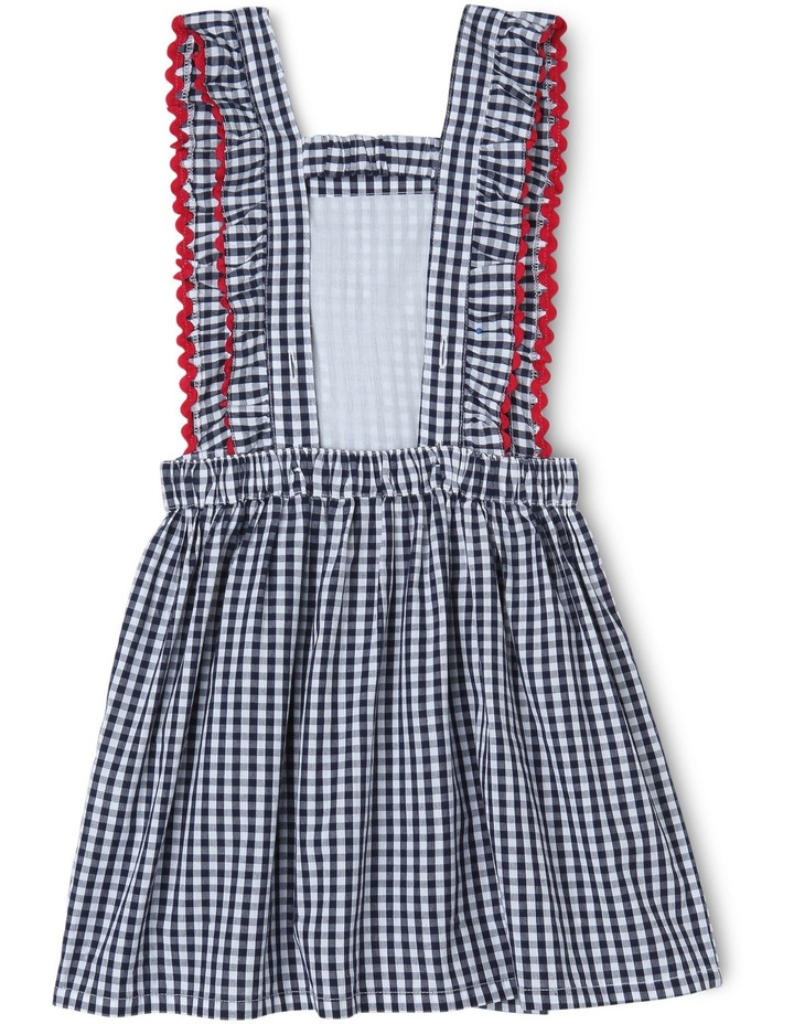 Ava Gingham Dress With Ric Rack Trim image 2