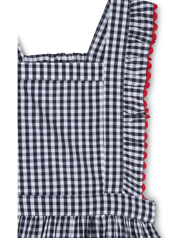 Ava Gingham Dress With Ric Rack Trim image 3