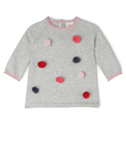 Jack & Milly - Willow Knitted Dress With Pom Poms