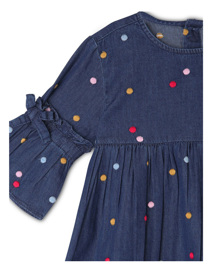 Queenie Denim Long Sleeve Dress image 2