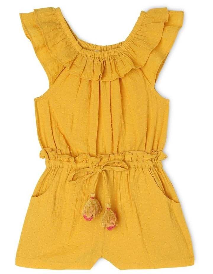 Zoe Woven Dobby Playsuit with Frill Neck image 1