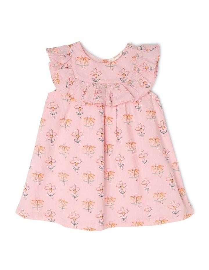 Chloe Woven Frill Neck Dress image 1