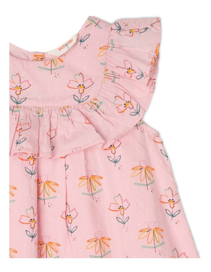 Chloe Woven Frill Neck Dress image 3