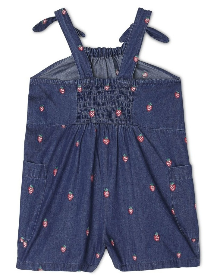 Mia Chambray Playsuit With Embroidery and Bow Detail image 2