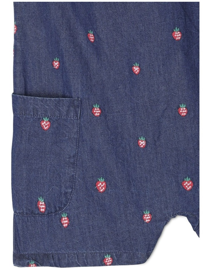 Mia Chambray Playsuit With Embroidery and Bow Detail image 4